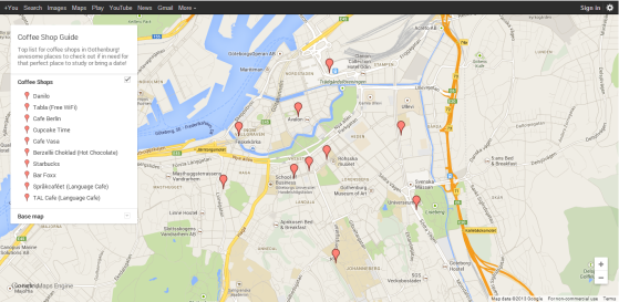 Coffee Shop Guide (Google Maps)