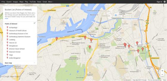 Bucket List (Google Maps)
