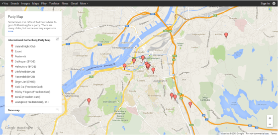 Party Map (Google Maps)