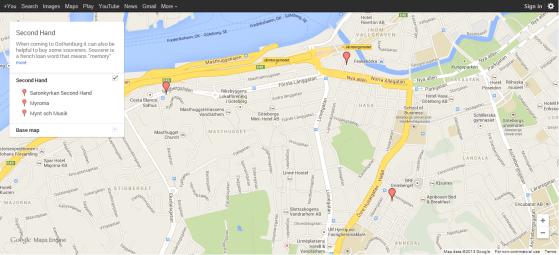 Second Hand (Google Maps)